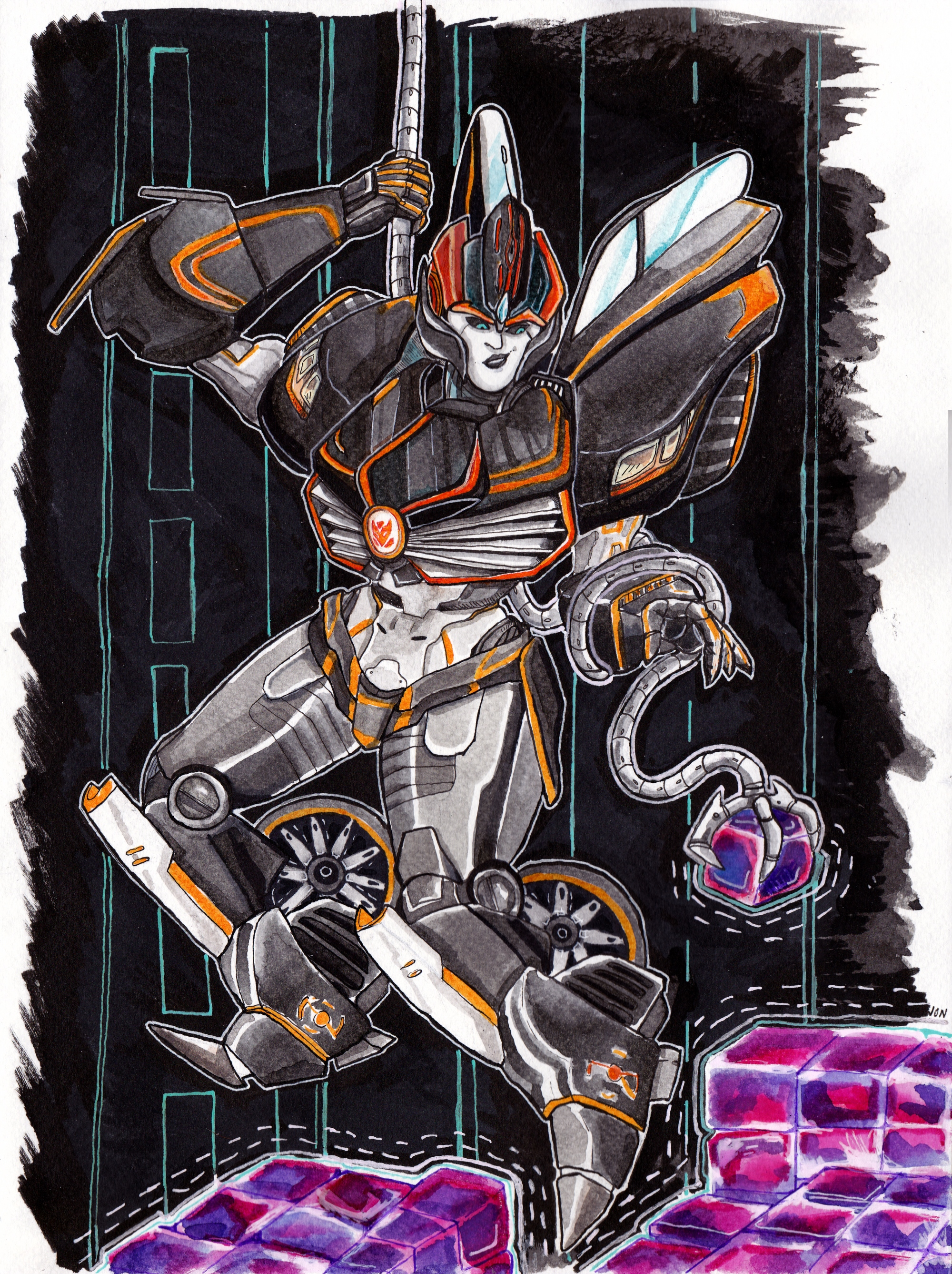 Commission, transformers, illustration