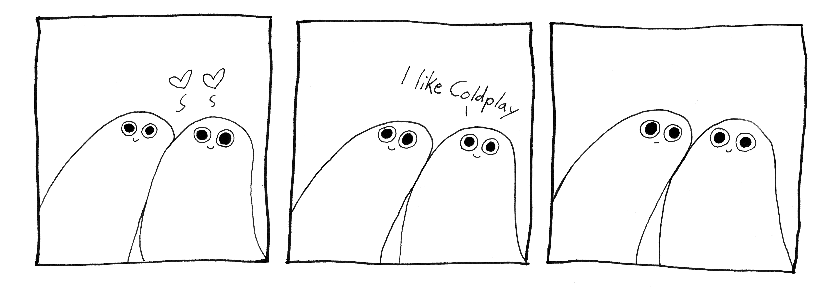 ghosts, comic, Coldplay