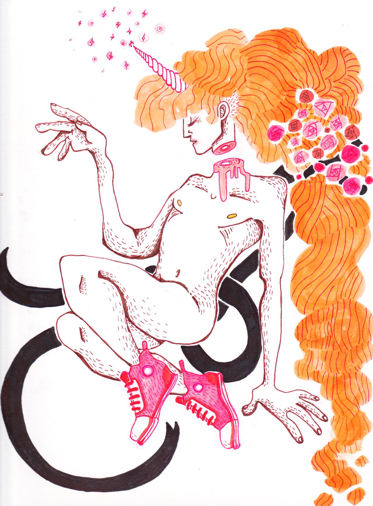 unicorn, illustration