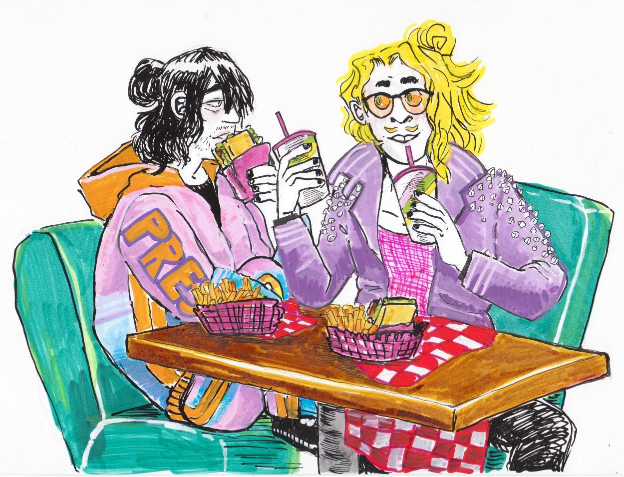 Aizawa, Mic, erasermic, markers, illustrations, BNHA, MHA